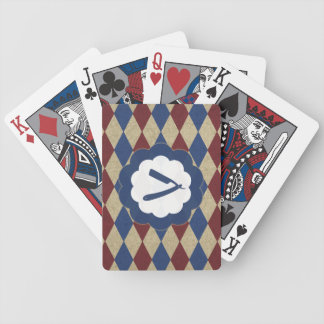 barbershop diamonds bicycle playing cards