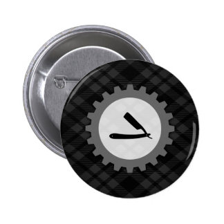 barbershop gear 2 inch round button