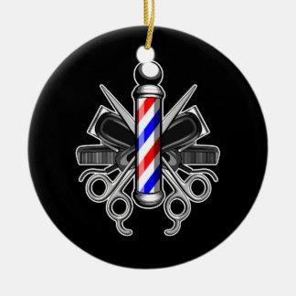 Barbershop Logo Ceramic Ornament