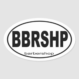 Barbershop Music Gift Oval Sticker