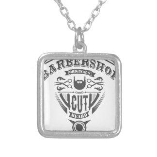 Barbershop originals vintage silver plated necklace