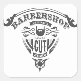 Barbershop originals vintage square sticker