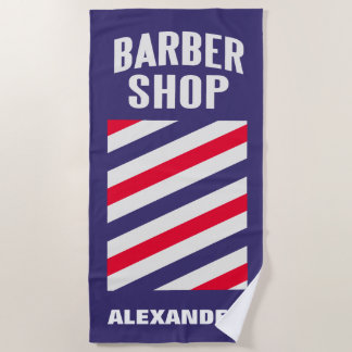 Barbershop Personalize Beach Towel