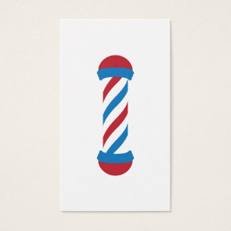barbershop pole referral business card