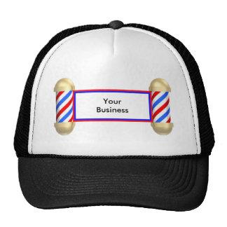 Barbershop scroll trucker hat