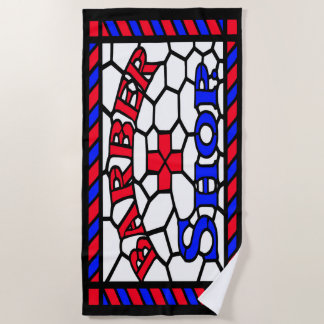Barbershop Sign Beach Towel