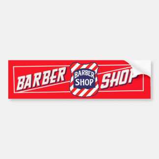 Barbershop Sign Bumper Sticker