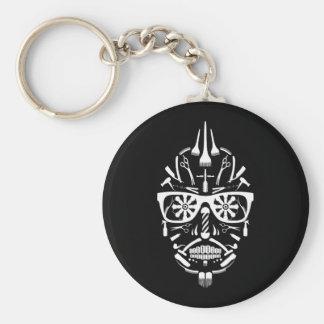 barbershop sugar skull keychain