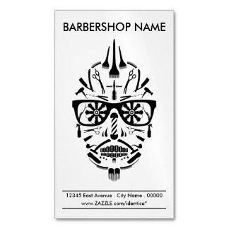 barbershop sugar skull Magnetic business card
