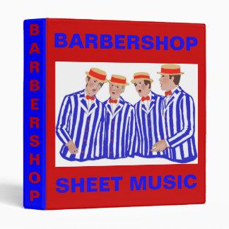 Barbershopers Vinyl Binder