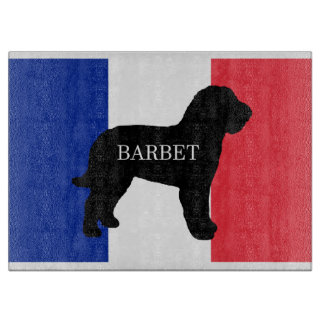 barbet name silo France flag Cutting Board