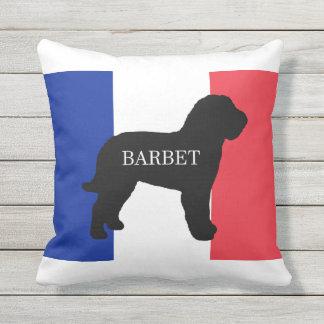 barbet name silo France flag Outdoor Pillow