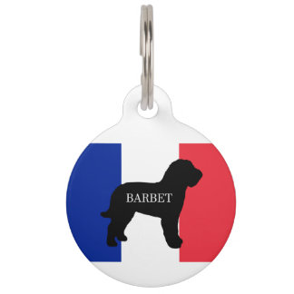 barbet name silo France flag Pet ID Tag