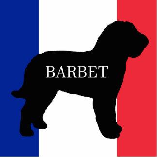 barbet name silo France flag Photo Sculpture Keychain