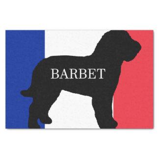 barbet name silo France flag Tissue Paper