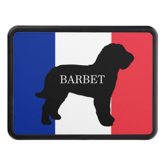 barbet name silo France flag Trailer Hitch Cover