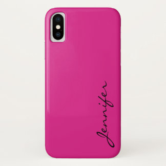 Barbie pink color background iPhone x case