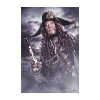 Barbossa - Command Respect Canvas Print