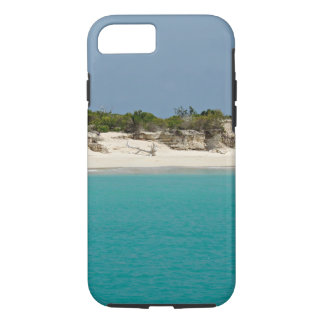 Barbuda beach with driftwood iPhone case