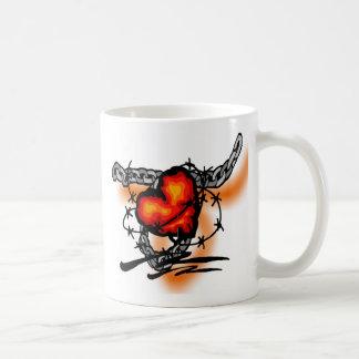 barbwire heart coffee mug