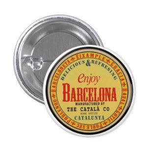 Barcelona 1 Inch Round Button