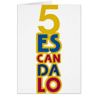 BARCELONA 5 SCANDAL GREETING CARD