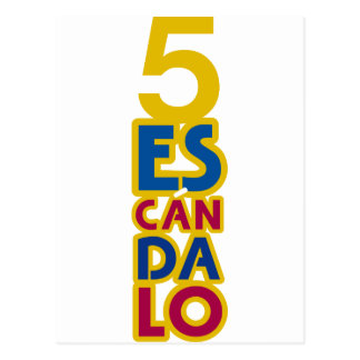 BARCELONA 5 SCANDAL POSTCARD