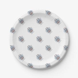 Barcelona 7 Inch Paper Plate