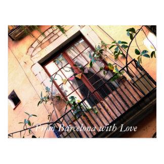 Barcelona Balcony Postcard