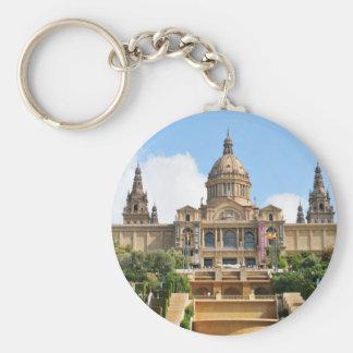 Barcelona Basic Round Button Keychain