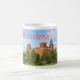 Barcelona castle coffee mug