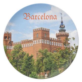 Barcelona castle plates