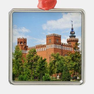 Barcelona castle Silver-Colored square ornament