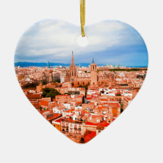 Barcelona Ceramic Heart Ornament