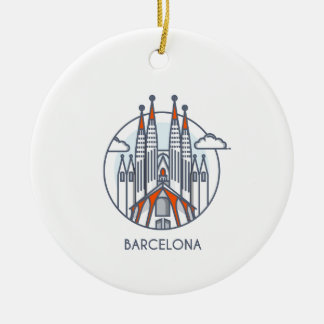 Barcelona Ceramic Ornament