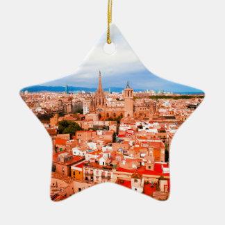 Barcelona Ceramic Star Ornament