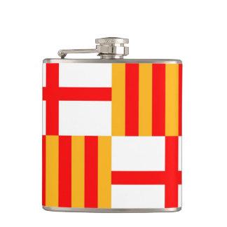 barcelona city flag spain hip flask