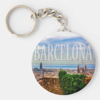 Barcelona city keychain