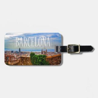 Barcelona city luggage tag