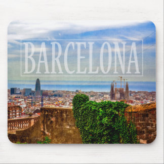 Barcelona city mouse pad