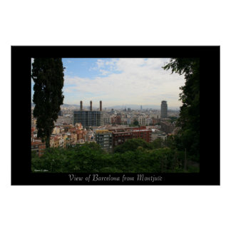 Barcelona City View Poster