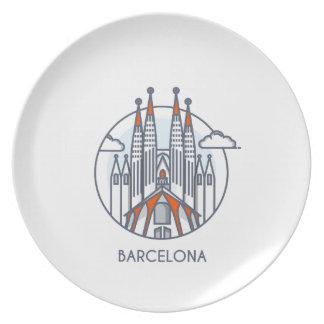 Barcelona Dinner Plates