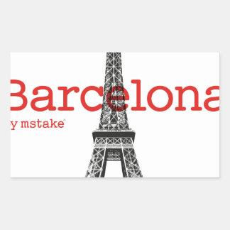 Barcelona-Eiffel by mstake Sticker
