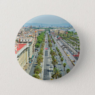 Barcelona from above 2 inch round button