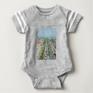 Barcelona from above baby bodysuit