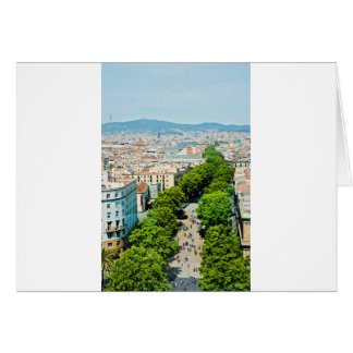 Barcelona from above card
