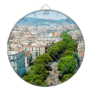 Barcelona from above dartboard