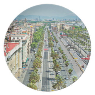 Barcelona from above dinner plates
