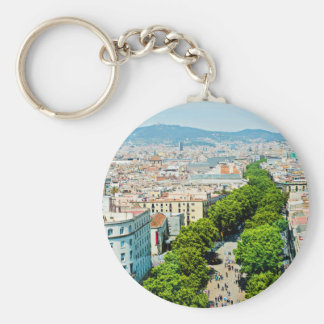 Barcelona from above keychain