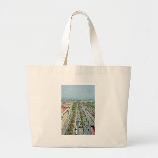 Barcelona from above large tote bag